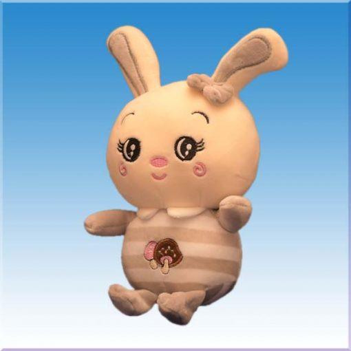 عروسک خرگوش با طرح قارچ به سینه