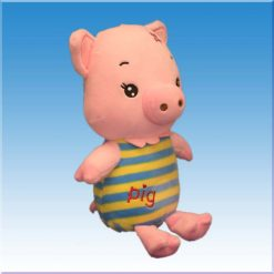 عروسک خوک پیراهن راه راه