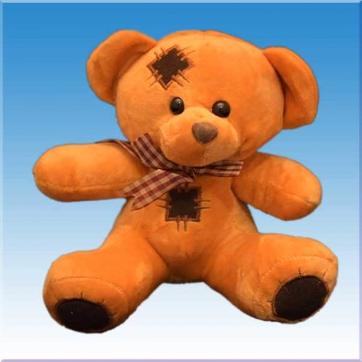 عروسک خرس وصله دار