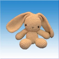 عروسک خرگوش قلاب بافی