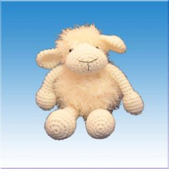 عروسک گوسفند قلاب بافی