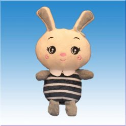 عروسک خانوم خرگوش طرح لباس راه راه