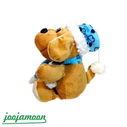 عروسک سگ کلاه پوش