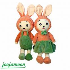 عروسک دختروپسر کلاه خرگوشی, خرید عروسک