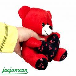 عروسک خرس قلب مشکی love
