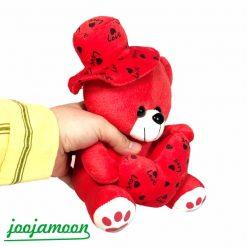 عروسک خرس کلاه دار love