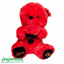 عروسک خرس دسته گل