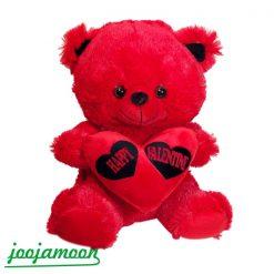 عروسک خرس قرمز Happy Valentine