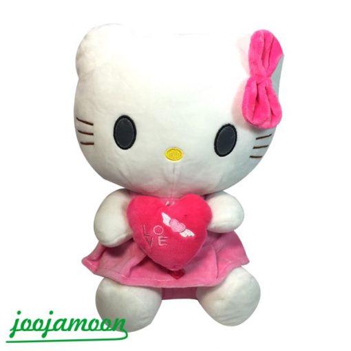 عروسک گربه کیتی قلب در دست