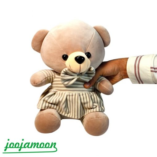 عروسک خرس لباس راه راه