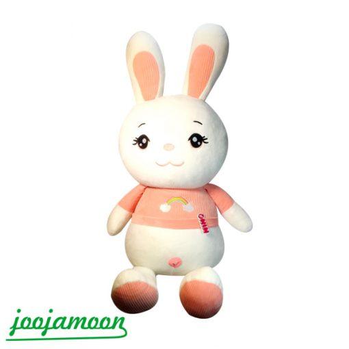 عروسک خرگوش با طرح رنگین کمان