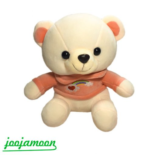 عروسک خرس باطرح رنگین کمان