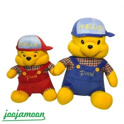 عروسک خرس پو کلاه دار