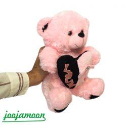 عروسک خرس قلب پاپیونی