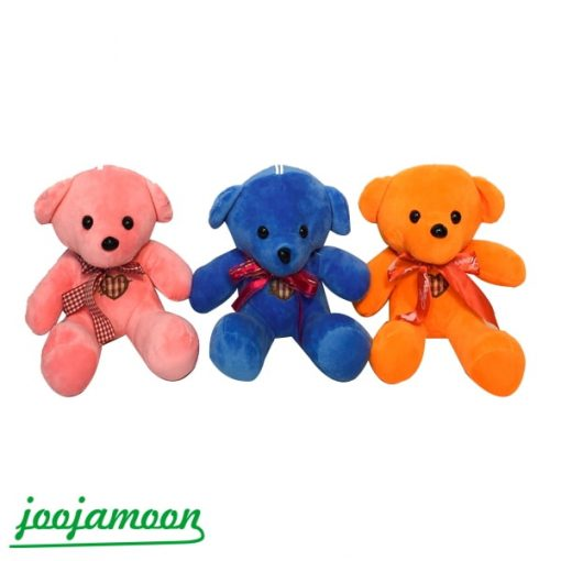 عروسک خرس مینی پایپون دار رنگی