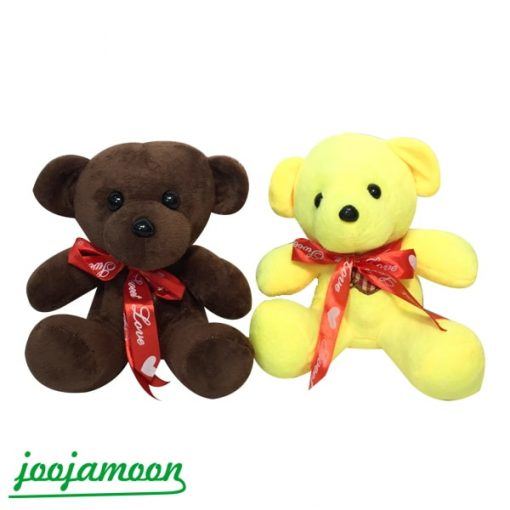 عروسک خرس مینی پاپیون دار رنگی