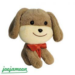 عروسک سگ نشسته پاپیون دار