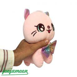 عروسک گربه پاپیون دار