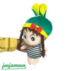 عروسک نوزاد کلاه خرگوشی لباس راه راه