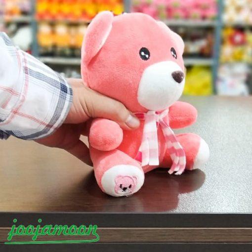 عروسک خرس شالدار