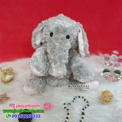 عروسک فیل پشمالو خاکستری