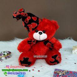 عروسک خرس نشسته کلاه Love