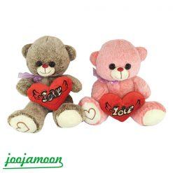 عروسک خرس قلب به دست پاپیون دار فرشته