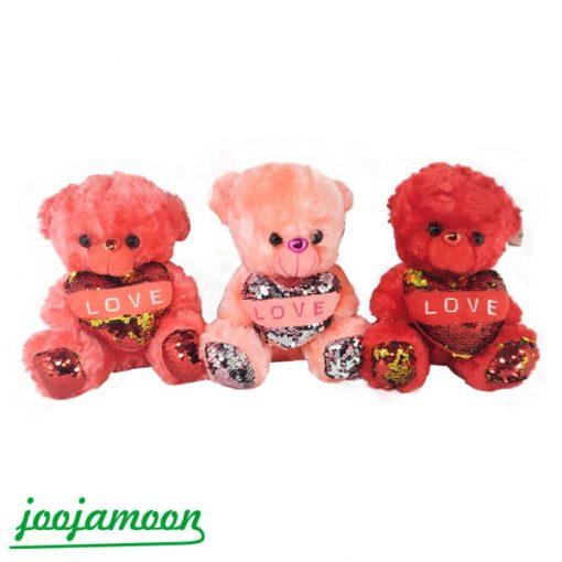 عروسک خرس قلب به دست نشسته Love