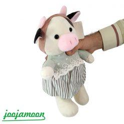 عروسک گاو دختر و پسر لباس راه راه
