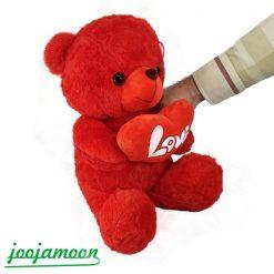 عروسک خرس قلب به دست 35 سانتی