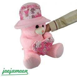 عروسک خرس قلب به دست صورتی