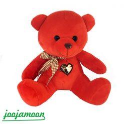 عروسک خرس پاپیون دار قلب طلایی