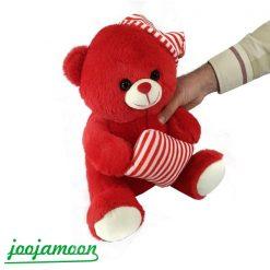 عروسک خرس کلاه راه راه