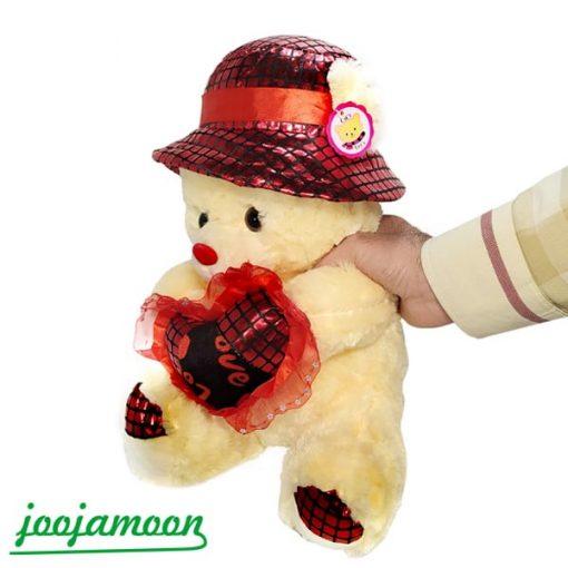 عروسک خرس قلب به دست ولنتاین