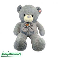 عروسک خرس پاپیون قلبی