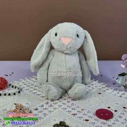 عروسک خرگوش جلی کت 25 سانت