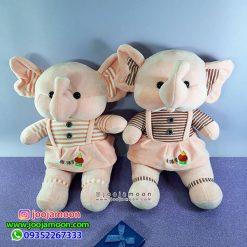 عروسک فیل لباس راه راه HUGS BABY