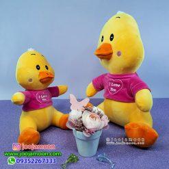 عروسک اردک I LOVE YOU