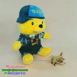 عروسک خرس پو کلاهدار Hello